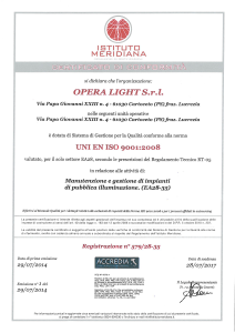 OPERA LIGHT - UNI EN ISO 9001