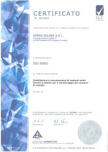 OPERA SOLARE -  ISO 50001