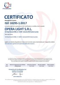 OPERA LIGHT- ISO 18295 _ 05.07.2023 - Certifcato rev. 00